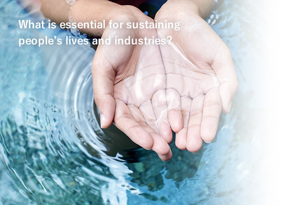 What is essential for sustaining people's lives and industries?
